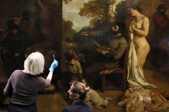 L'atelier du peintre de Gustave Courbet... (Photo: AFP)