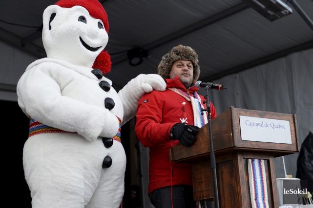 Le président du Carnaval de Québec, Denis Simard,... (Photothèque Le Soleil, Caroline Grégoire)
