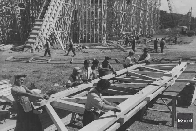Il n'a fallu que sept mois pour construire... (Archives Le Soleil)