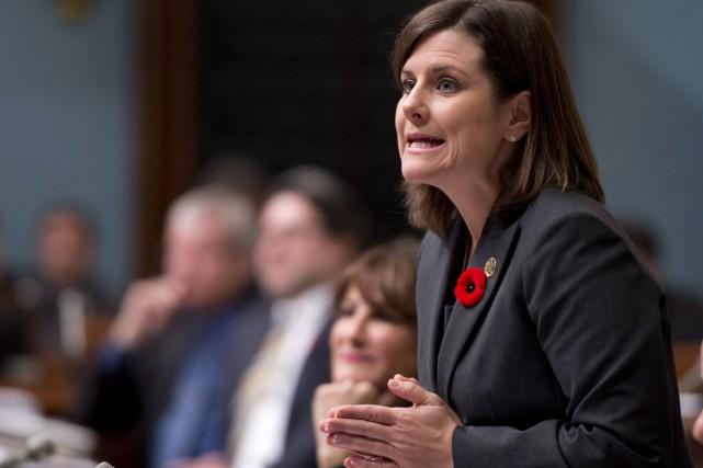 La ministre responsable de l'Outaouais, Stéphanie Vallée, se... (PHOTO JACQUES BOISSINOT, ARCHIVES LA PRESSE CANADIENNE)