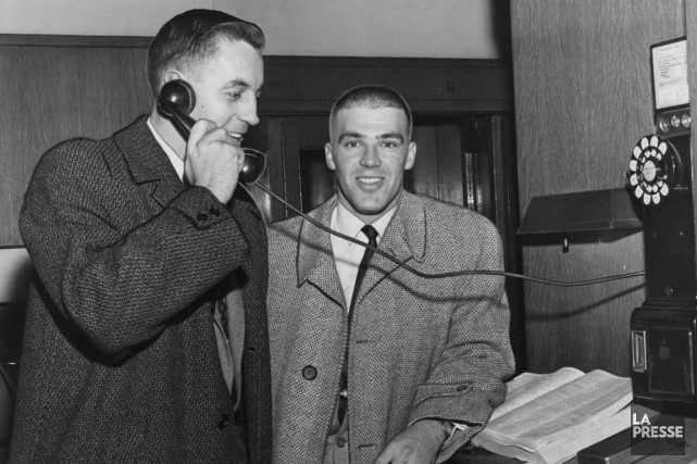 Jean Béliveau et Jean-Guy Talbot ont joué 14... (Photo archives La Presse)