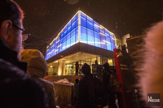 À l'occasion du premier anniversaire de la bibliothèque Marc-Favreau, créée... (Photo: Olivier Pontbriand, La Presse)