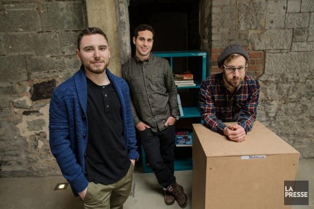 Andrew Peker, Jeremy Weiss et Alexandre Leclair, de... (PHOTO EDOUARD PLANTE-FRECHETTE, LA PRESSE)