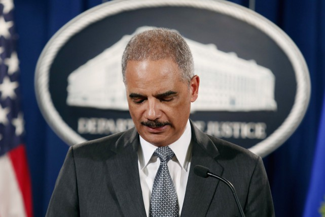 Le ministre américain de la Justice Eric Holder.... (PHOTO YURI GRIPAS, ARCHIVES REUTERS)