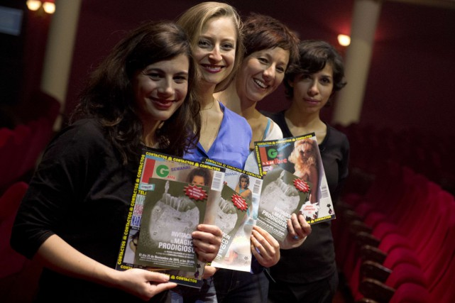 Les actrices Maria Herrero, Paloma de Pablo, Esther... (Photo: AFP)