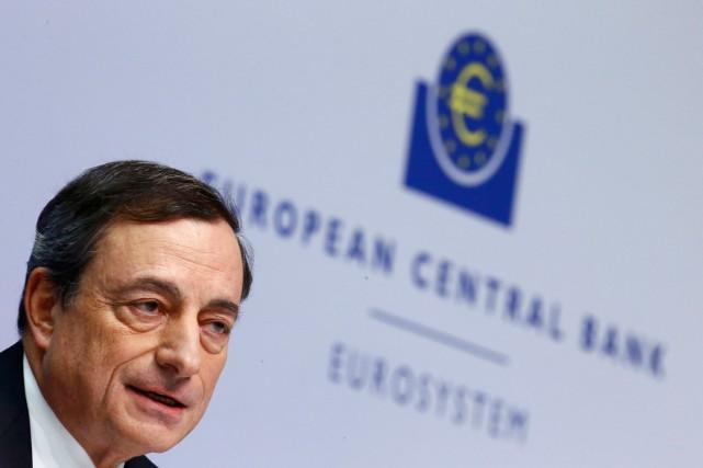 Le président de la BCE, Mario Draghi.... (PHOTO ARCHIVES REUTERS)
