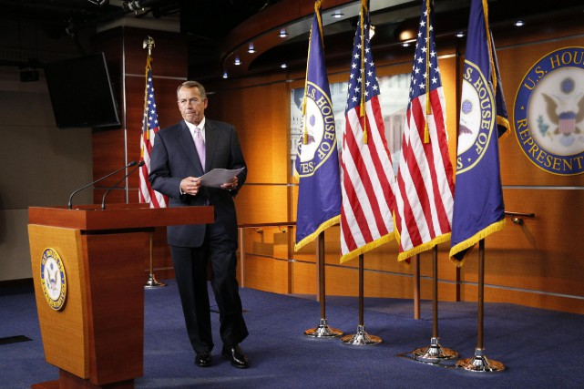 Le républicain John Boehner, président de la Chambre... (Photo Kevin Lamarque, Reuters)