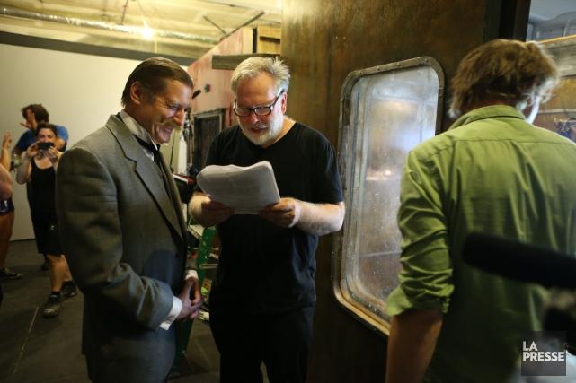 Guy Maddin (à droite) aux côtés du comédien... (Photo Martin Chamberland, archives La Presse)