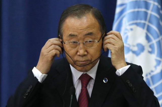 Le secrétaire général de l'ONU Ban Ki-moon.... (PHOTO AMMAR AWAD, archives REUTERS)