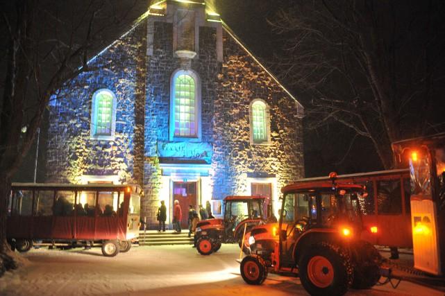 La septièmeFéeriedeNoëlcommence vendredi soir à Saint-Élie-de-Caxton.... (Photo: Stéphane Lessard)