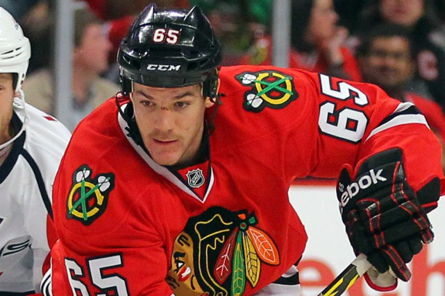 Andrew Shaw est le plus jeune attaquant de... (Photo Dennis Wierzbicki, USA Today Sports)