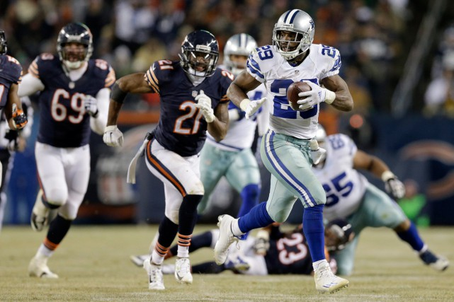 DeMarco Murray (29) a récolté 179 verges de... (Photo Nam Y. Huh, AP)