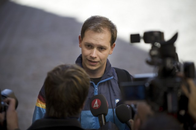 Peter Sunde, cofondateur dusite de partage de fichiers... (Photo archives AFP)
