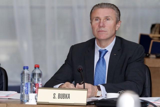 Sergueï Bubka a participé à une réunion du... (Photo Valery Hache, archives AFP)