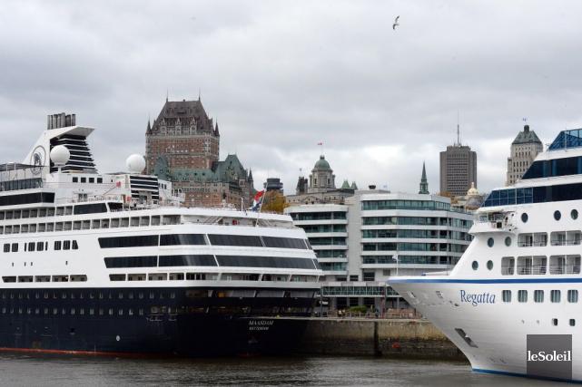 Le port de la Vieille Capitale a accueilli... (Photo Erick Labbe, Le Soleil)