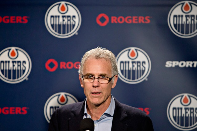 Le directeur général des Oilers d'Edmonton, Craig MacTavish,... (Photo Jason Franson, PC)