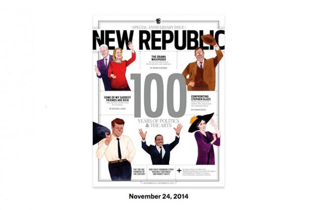 L'édition de novembre 2014 deThe New Republic.... (PHOTO FOURNIE PAR THE NEW REPUBLIC)