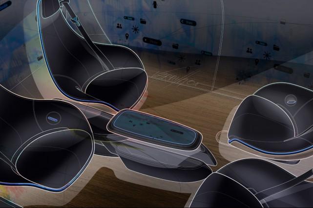 Mercedes-Benz a présenté plusieurs esquisses intitulées «Intérieurs de... (Illustration fournie par Mercedes-Benz)