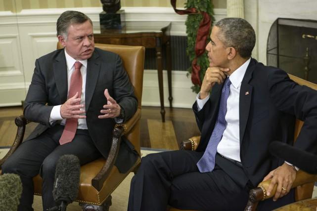 Le roi Abdallah II de Jordanie a rencontré... (PHOTO Brendan SMIALOWSKI, AFP)