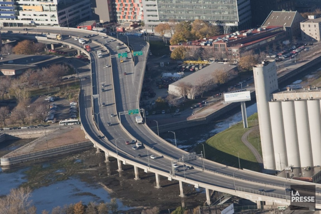 L'autoroute Bonaventuresera partiellement fermée au cours des deux... (PHOTO IVANOH DEMERS, Archives La Presse)