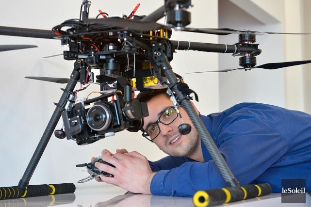 Johan Lassalle, le patron de DroneXperts, a ouvert... (Le Soleil, Yan Doublet)