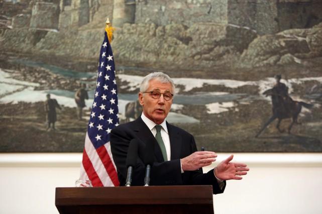 Le secrétaire américain à la Défense a participé... (PHOTO RAHMAT GUL, AP)