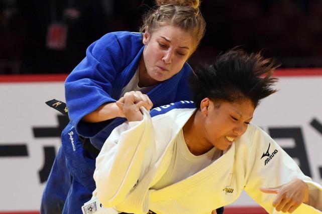 Kelita Zupancic s'est imposée contreKaren Nun Ira pour... (PHOTO TOSHIFUMI KITAMURA, AFP)