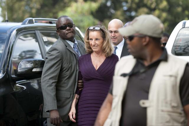 La participation de l'ambassadrice des États-Unis en Haïti,... (PHOTO HECTOR RETAMAL, AFP)