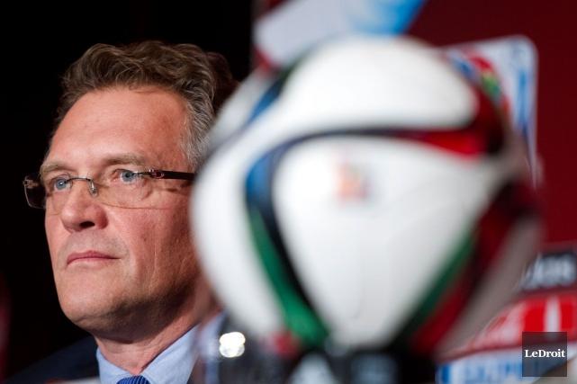 Le secrétaire general de la FIFA,Jerome Valke, lors... (Martin Roy, LeDroit)