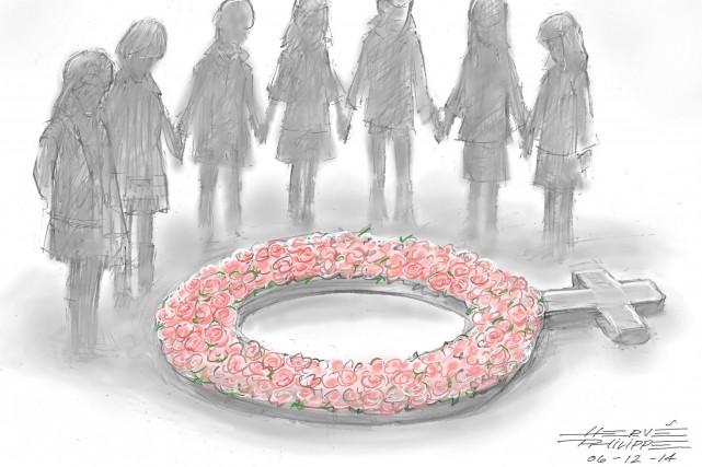 Aujourd'hui marque le triste 25e anniversaire de la tragédie de Polytechnique.... (Hervé Philippe)