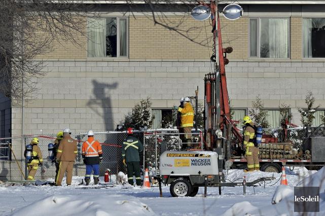 La fuite de gaz naturel a été contrôlée... (Le Soleil, Patrice Laroche)