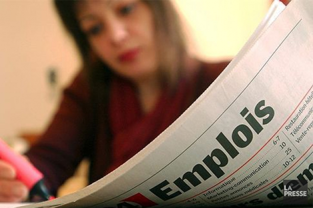 Une croissance de 2200 emplois dans la capitale fédérale, en novembre, a une... (Archives, La Presse)