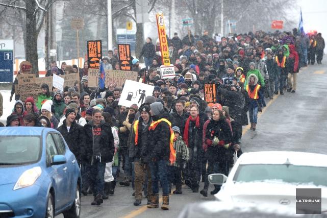 Environ 300 manifestants ont pris part samedi au... (IMACOM, Maxime Picard)