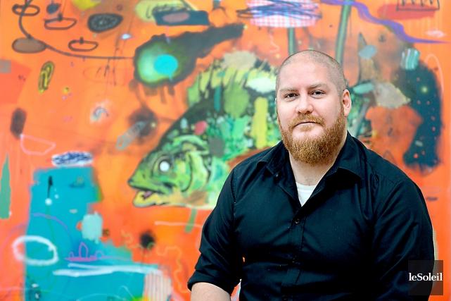 Le peintre Dan Brault attire de plus en... (Le Soleil, Erick Labbé)