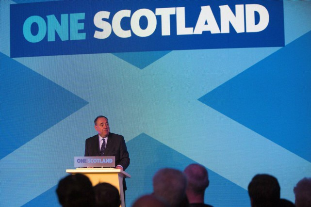 L'ancien premier ministre de l'Écosse, Alex Salmond.... (PHOTO ARCHIVES ASSOCIATED PRESS)