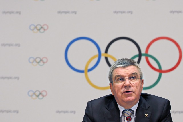 Le président du du Comité international olympique Thomas Bach.... (PHOTO ERIC GAILLARD, REUTERS)