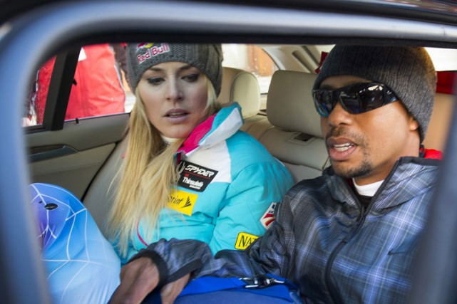 Tiger Woods et Lindsey Vonn à la station... (Archives AP)