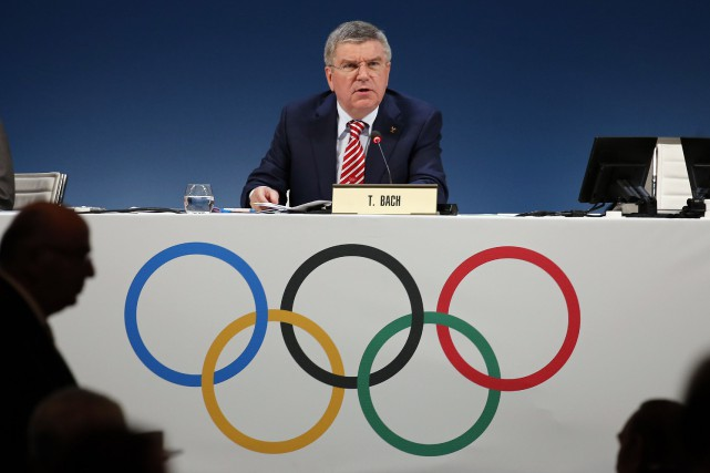 Le président du Comité international olympique, Thomas Bach.... (PHOTO ERIC GAILLARD, REUTERS)