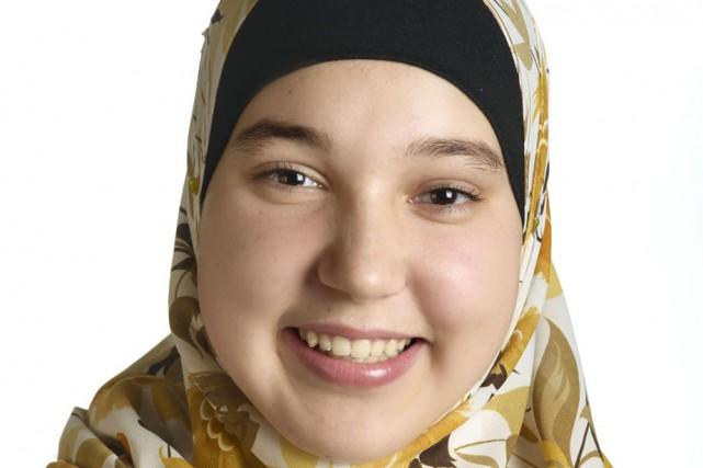 Lydia Nait-Said, élève de quatrième secondaire de l'école...