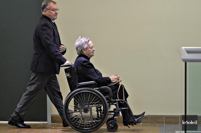 Lise Thibault, 75 ans, a choisi de plaider... (Le Soleil, Patrice Laroche)