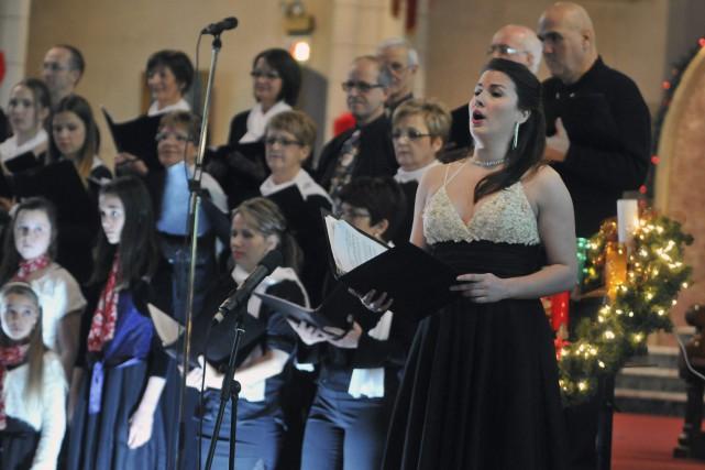 Concert de Noël avec Marie-Ève Munger.... ((Photo Michel Tremblay))