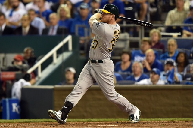 Brandon Moss a maintenu une moyenne de ,234... (Photo  Peter G. Aiken, USA Today Sports)