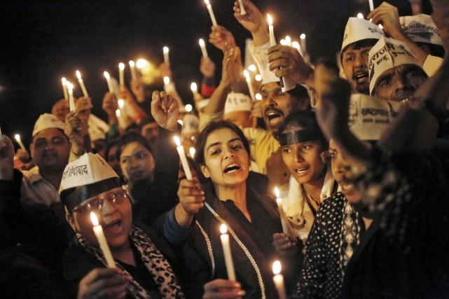 Une vigile a été organisée à New Delhi,... (PHOTO ANINDITO MUKHERJEE, REUTERS)