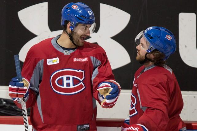 Max Pacioretty et David Desharnais seront séparés mardi... (Photo Paul Chiasson, PC)