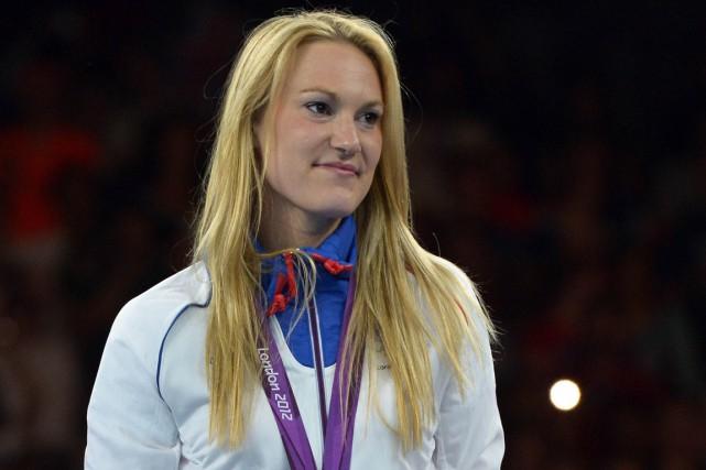 Marlène Harnois a remporté la médaille de bronze... (Photo Alberto Pizzoli, AFP)