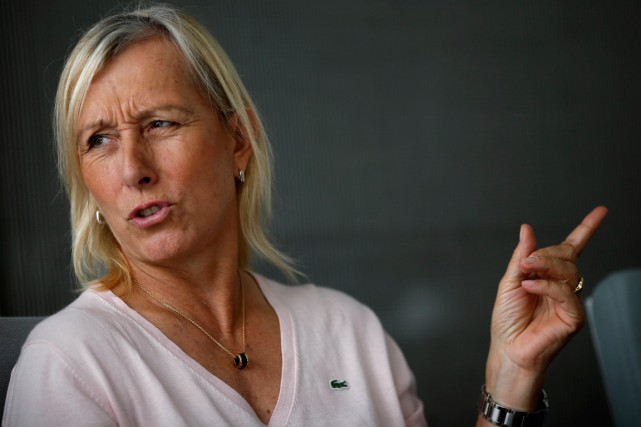 Martina Navratilova... (Photo Edgar Su, Reuters)
