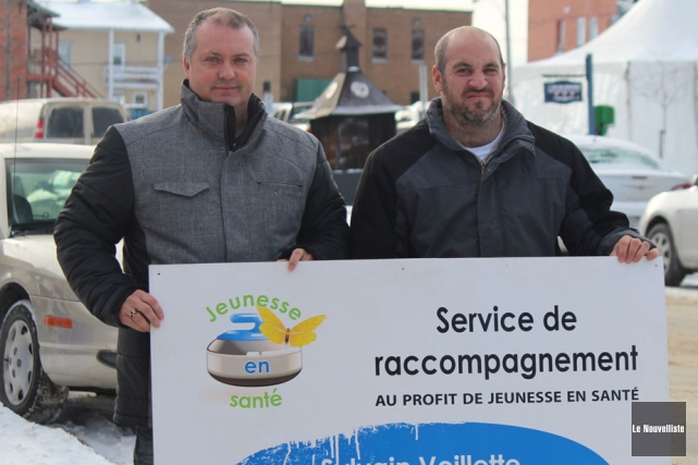 Sylvain Veillette (à gauche), responsable du service de... (Photo: Audrey Tremblay, Le Nouvelliste)