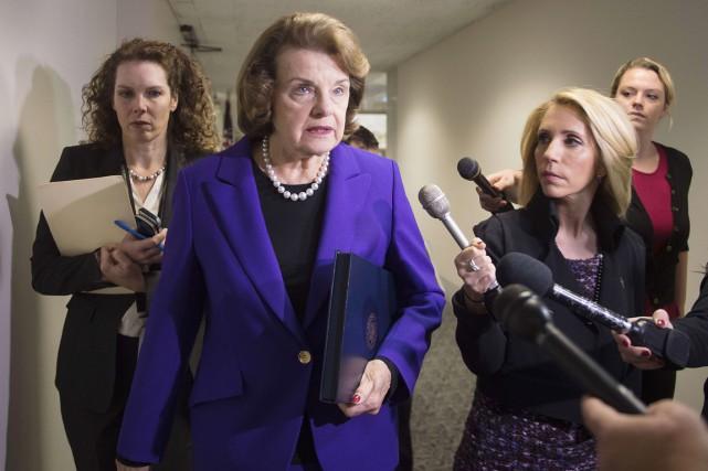 Dianne Feinstein, présidente démocrate de la commissiondu Renseignement... (PHOTO JIM WATSON, AFP)