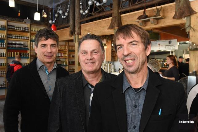 Les trois actionnaires de Maïkan Aventure, Marc Saint-Onge,... (Photo: François Gervais, Le Nouvelliste)