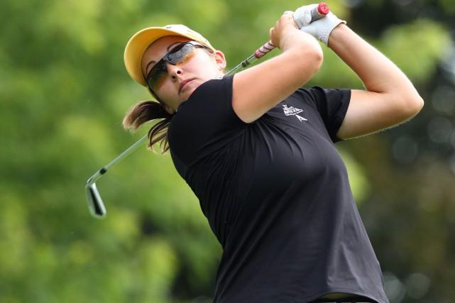 La golfeuse québécoise Sara-Maude Juneau a subi l'élimination... (Photo Dave Chidley, archives PC)